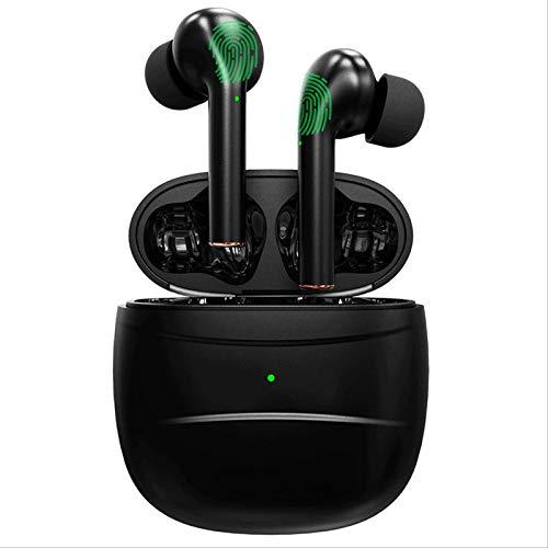 Auriculares Bluetooth 5.0 Binaural de carga inalámbrica estéreo J3 Touch Headset adecuado para gimnasio trabajo 1 J3 nueva versión de Jerry 6973 negro