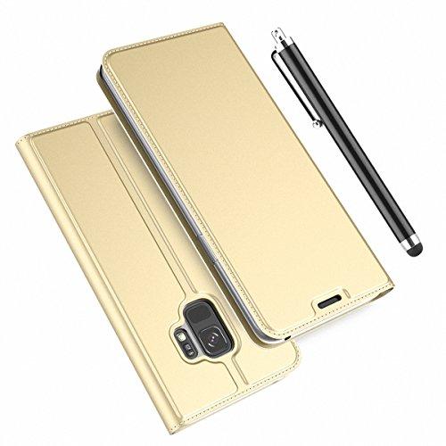 Forhouse Samsung Galaxy S9 Hülle, Ledertasche Premium PU Leder Schutzhülle Flip Magnet Brieftasche Kartenfach Schlanke stoßfest Schutzhülle für Samsung Galaxy S9