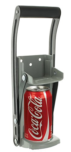 Ram-Pro 12 oz Aluminum Can Crusher & Bottle Opener | Heavy Duty Metal Wall Mounted Soda Beer Smasher...