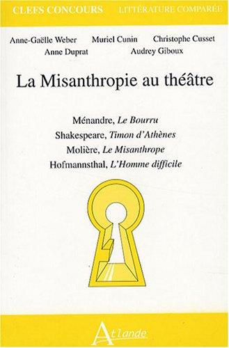 La Misanthropie au théâtre