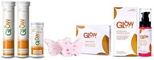 GlowGlutathione 2 in 1 Advance Formula Japanese L-Glutathione 500mg + Vitamin C 1000mg (60Tablets + GlowGlutathione15...