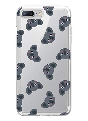 Suhctup Funda Compatible para iPhone 5/5S/SE,Carcasa Transparente Dibujos Animal Suave Silicona TPU Gel Bumper Ultra Pulgada Antigolpes Crystal Clear Protector Piel Case Cover,Pereza 9