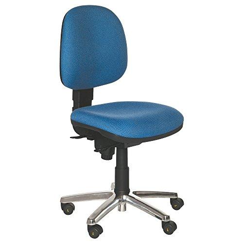 Warmbier Drehstuhl Comfort, Standard mit Rollen, ESD, blau