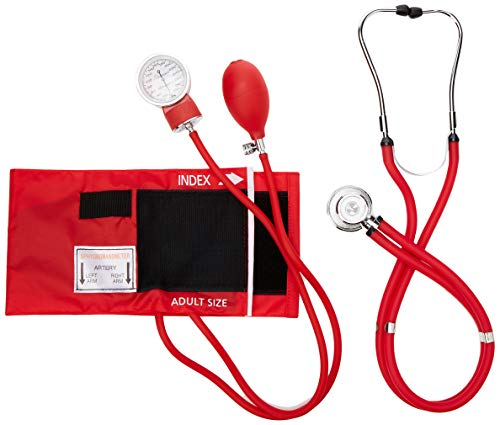 Primacare Medical Supplies DS-9181 Blutdruckmessgeräte-Set mit Sprague-Rappaport-Stethoskop, Rot