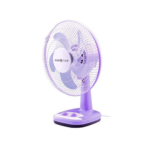 C-J-Xin Vrijstaande Desktop Fan, Purple Princess Silent elektrische ventilator Keuken Kantoor Cooling Fan Automatic Swing Vertical Cooler Huishoudelijke apparaten (Color : A, Size : 47 * 35CM)