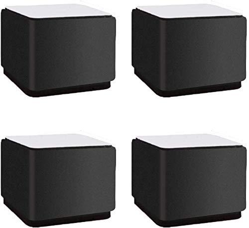 TCWDX 4 Piezas de Almohadillas de elevación de Muebles de Acero al Carbono, Redondas y reemplazables para sofá, para gabinete, sofá, Mueble, Soporte de TV, Protectores de Piso, Patas de Muebles, p