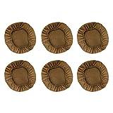 B Blesiya 6pcs Cubiertas Ajustable del Taburete Redondo o Cuadrado Fundas de Silla Elástica para Hogar y Oficina