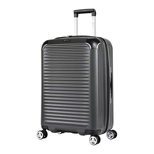 Eminent Koffer Materia M 66cm 69L super leicht extra Eckenschutz Anti-Kratz-Hartschale 4 Doppelrollen 360° Hartschalenkoffer Grau