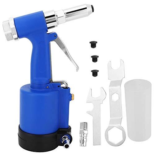 Remachadora de aire neumática Pistola de remaches Herramienta neumática, Alta eficiencia de trabajo, Extractor de clavos hidráulico ligero, Kit de herramientas de remachadora de aire, Presión de aire