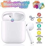 mela auricolare bluetooth, auricolare wireless stereo 3d hd ipx5 impermeabile, accoppiamento automatico per chiamate binaurali, adatto per samsung / iphone11 / android/airpods