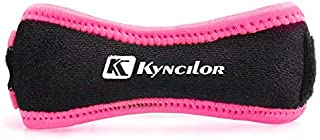 kyncilor Knee Support Patella Strap with Adjustable Knee Band, Brace Stabilizer for Arthritis, Running, Basketball, Meniscus Tear, Sports, Athletic. Best Knee Brace for Hiking, Soccer. (Rose Red)
