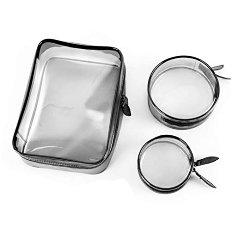 Makeup Bag and Toiletry Kit 3 in 1 Waterproof Cosmetic Travel Organiser Clear PVC Transparent Storage Bags by Liverpool International