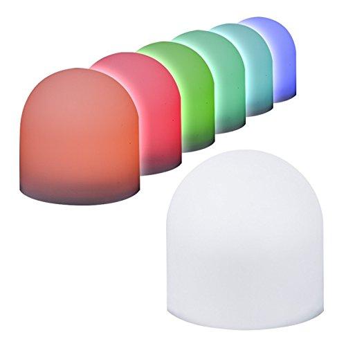 6 LED-Leuchtis mit Farbwechsel, 3,8cm x 3,7cm, inkl. Knopfzellen-Batterien | leuchtende Tisch-Deko für Gartenparty, Kaffeetafel & mehr | bunte Mini-Lampen für Party, Kindergeburtstag, Geschenkidee
