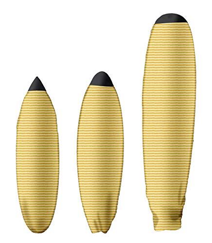 Material: Hecho de tela tejida elástica, protege el interior de tu vehículo ante la cera y el agua de la tabla. Talla: Diferentes tamaños para adaptarse a híbrida, shortboard y longboard. Cierre sencillo: La funda de tabla de surf tejida tiene un sis...
