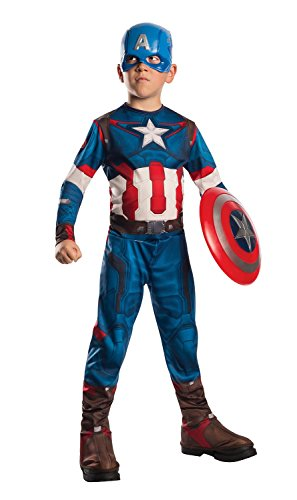 Generique - Déguisement Captain America Avengers Garçon 8 à 10 Ans