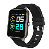 Zagzog Smart Watch Square Multifunction for Men Women, Compatible for Android iOS Phones, IP68 Waterproof,...