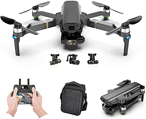 JJDSN Drone GPS Lailuaxoa con cámara HD de 8 K, cardán de 3 Ejes, fotografía Profesional antivibración, sin escobillas, Plegable, cuadricóptero, Juguete, 25 Minutos de Tiempo de Vuelo