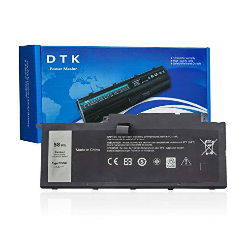 DTK Batería para DELL Inspiron 15 7537 17 7737 17 7746 062VNH F7HVR G4YJM T2T3J Y1FGD Baterías portátiles y netbooks [14.8V 58Wh]