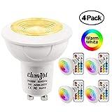 GU10 LED Lampe RGB+Warmweiss Farbwechsel Spot Licht 3W, 200LM, RGBW Dimmbar durch mit Fernbedienung...