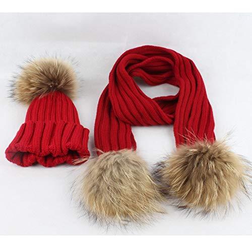SUIBIAN Sombrero de Invierno para bebé Bufanda para niñas Sombrero para niños Accesorios y Ropa para niños