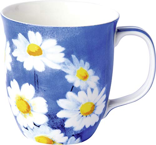 IHR - BOC 914040 – Taza, Agnetha, margarita, azul, porcelana, porcelana fina de hueso China, 10 cm x 9 cm.
