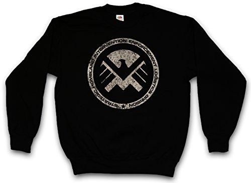 Urban Backwoods S.H.I.E.L.D. Vintage Logo III Sweatshirt Pullover Sweater Pull Noir Taille L