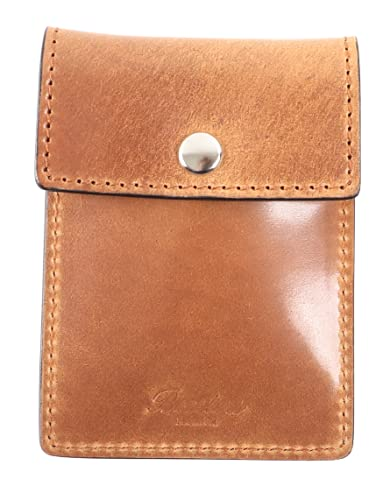 [Boosters]ブースターズ シェルコードバン 携帯灰皿 革 ポケット灰皿 におわない 高級 カードケース メンズ プレゼント ブラウン