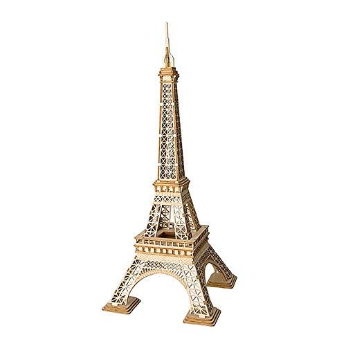 Robotime 3D-Puzzle Eiffelturm 23 cm Holz Natur 122-teilig