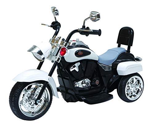 Maxy Chopper NightBike - Moto eléctrica Infantil (Triciclo), Color Blanco