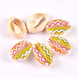 naturale beige conch shell fiore pittura scrapbook craft conchiglie per gioielli braccialetto decorazione casa fai da te 10pcs trs0345, 8