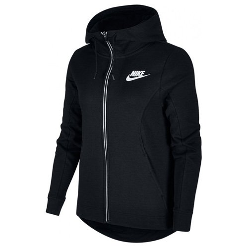 Nike Damen Sportswear Advance 15 Langarm Oberteil Mit Kapuze Full-Zip, Black/(White), L