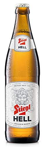 Jetzt neu: Stiegl Hell   Höllisch bierig   20 x 0,5l Flaschen-Bier   Alkohol 4,5% vol.