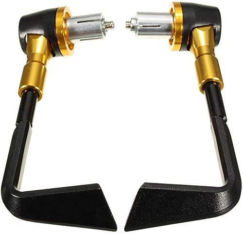 DINEGG 7/8' Sistema de Embrague Manillar de la Motocicleta Protector de la Palanca del Freno de Protección Negro Rojo, Nombre de Color: Azul Oscuro QQQNE (Color : Black Gold)