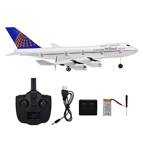 Aviones de control remoto USB RC, aviones de control remoto RC para B747 Modelo de simulación de juguete con destornillador Control remoto Cargador USB Destornillador Batería