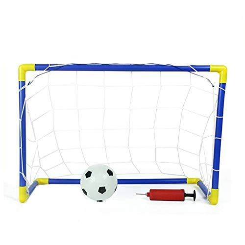 Chengzuoqing Fußballtor Kinder Spielzeug tragbare Kinder Fussball Tore Fussball Tore Set 60 x 29 x 41 cm für Training, Matches oder Garten (Color : As Shown, Size : 60x29x41cm)