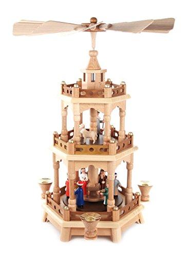 Dregano Christmas Pyramid Colorful Figures 3 Level