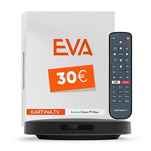 Kartina Eva IPTV Receiver Russisches Fernsehen! Unterstützt 4K, WiFi 2.4G/5G/USB, Micro SD, Android TV. Offizieler Shop von Kartina.TV!