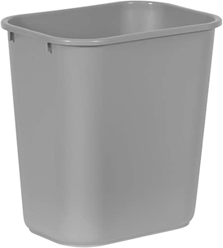 Rubbermaid Commercial Products Fg295600Gray Plastic Resin Deskside Wastebasket, 7 Gallon/28 Quart, Gray
