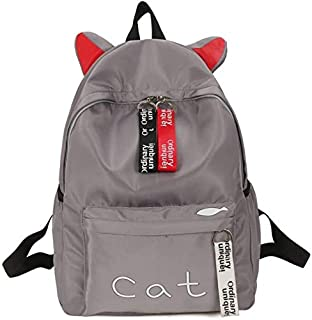 School Backpack Teens Women Backpack Schoolbag for Girls Teenage School Bags Cute Cat Ears Nylon Printing Back Pack Female...