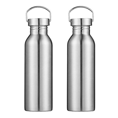 HomeDecTime Lots 2 Sports Water Bottle 750ml Stainless Steel Cycling Flask Hiking Drink Cup
