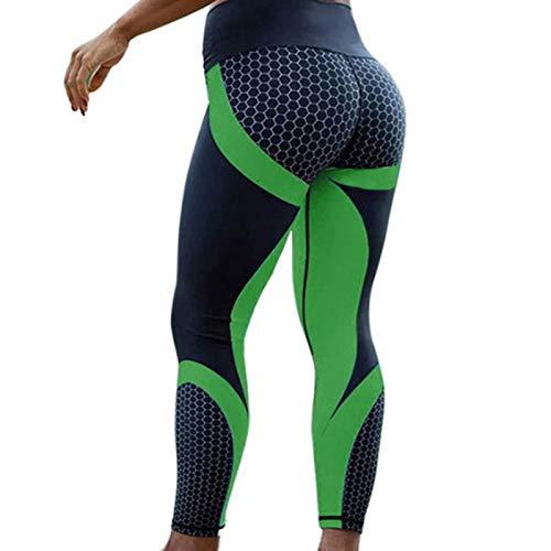 NIGHTMARE Pantalones de Entrenamiento y Running Leggings Deportivos con Paneles para Mujer Pantalones de Entrenamiento y Running Control de Abdomen M