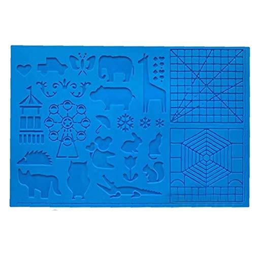 Silikon-Zeichenbrett 3D Pen Mat 3D Pen Stencils Buch 3D-Pen Zeichenwerkzeuge Blau, Home Werkzeuge