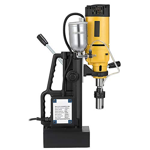 Mophorn Magnetic Drill 1680W Magnetic Drill Press with 2Inch Boring Diameter Annular Cutter Machine 2900 LBS 11pcs HSS Annular Cutter Bits