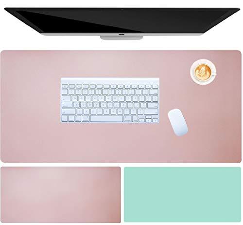 "Tapete de escritorio, Papel secante impermeable para escritorio para oficina y hogar, Bloc de notas de cuero de PU para escritorio, 31.5 x 15.7 ""(40cm x 80cm), Doble cara"