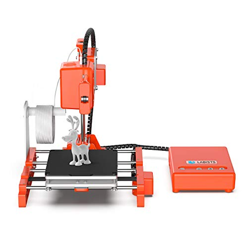 3D Printer, LABISTS Mini 3D Printer DIY Kit for Beginners Kids with 10M 1.75mm PLA Filament Magnetic...