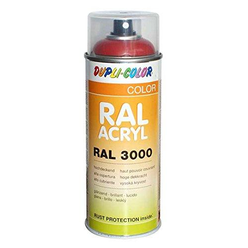 Dupli-Color 349560 RAL-Acryl-Spray 3000, 400 ml, Feuerrot Glanz