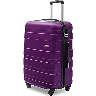 Merax Afuture 20 24 28 inch Luggage Lightweight Spinner Suitcase (20, Purple)