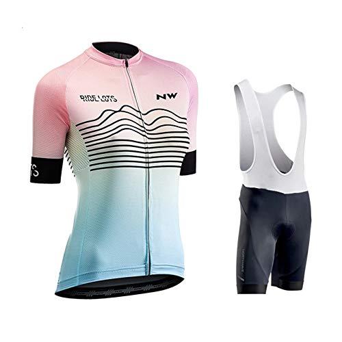 HXPainting Ropa Conjunto Traje Equipacion Ciclismo Mujer Verano con 9d Acolchado De...