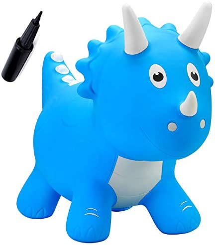 EVERICH TOY Dinosaur Bouncy Horse Hopping Toys Bouncy Animals Hopper Inflatable Triceratops product image