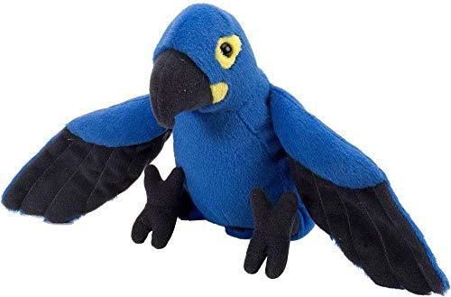 Wild Republic Hyacinth Macaw Plush, Stuffed Animal, Plush Toy, Gifts for Kids, Cuddlekins 8 Inches,Multi